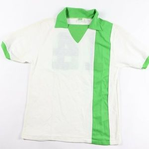 a01d49536 Vintage New 1970s Pele Soccer Jersey White Green M